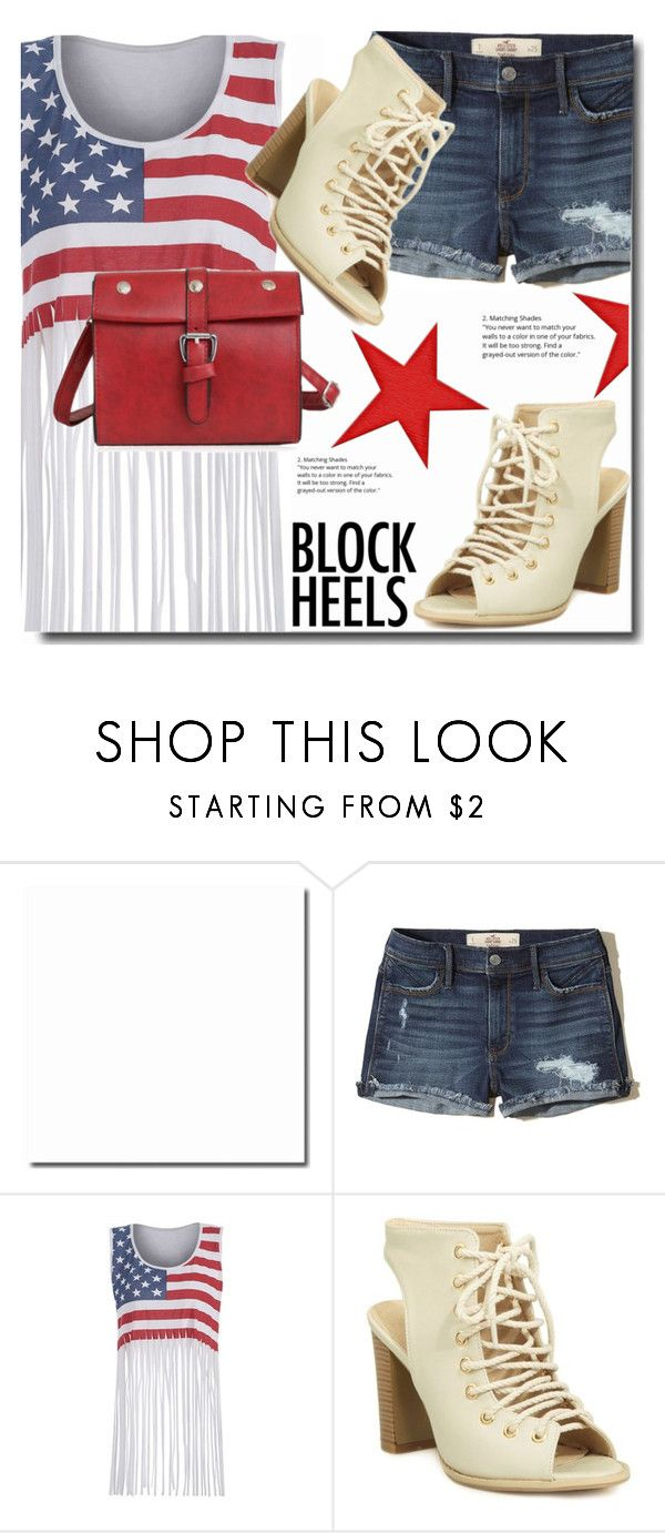 """""""Block heels"""" by soks ❤ liked on Polyvore featuring Hollister Co. and polyvoreeditorial"""