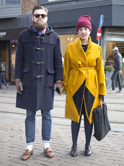 Syb & Saba - Streetstyle: Amsterdam - gele jas