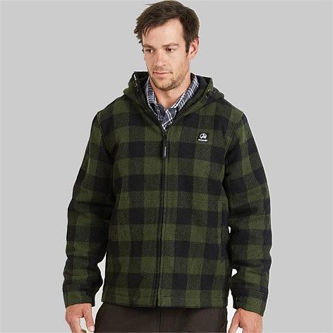 Collection of Quality Men's Wool Bush Shirts & Jackets for all occasions.  30 Day Return Policy.  Free delivery within New Zealand, Swanndri Men's  Boston Wool Hoody