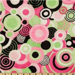 Kaufman Minky Cuddle Balloon Party Hot Pink/Lime for the back of the quilt?