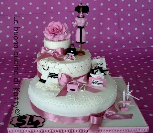 La buona cucina di Katty: Torta Fashion: I love shopping - Fashion cake: I love shopping