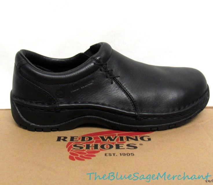 NEW! Womens Red Wing Black Aluminum Toe Slip-On Safety Shoes 2321 Size 8 B