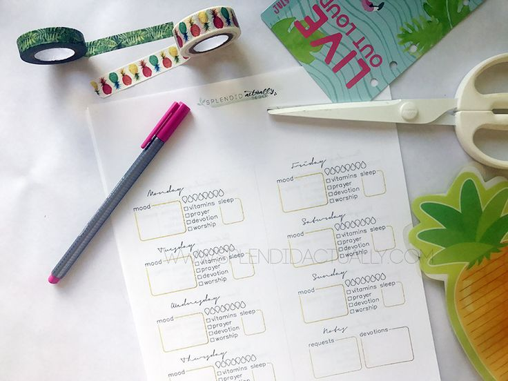 mental health tracker FREE printable personal sized planner
