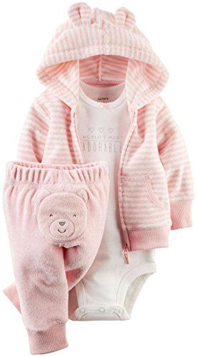 Carter's Baby Girls' 3 Piece Terry Cardigan Set (Baby) - Pink - Newborn Carter's http://smile.amazon.com/dp/B00XYO3QSW/ref=cm_sw_r_pi_dp_HF5Xwb1YCJ1DG