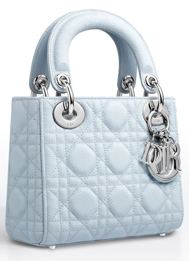 10b8b1f3e Small Celeste Lady Dior Bag. Christian Dior. Pastel. Light blue. Pastels.  Feminine. Chic. Effortless. Effortlessly chic. Girly. Soft colors. Cool  tones.