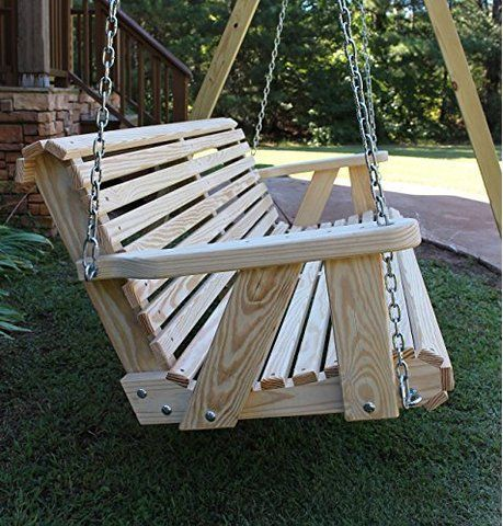 Roll Back Amish Heavy Duty 800 Lb 5ft Porch Swing Made