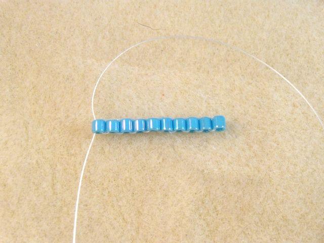Flat Ndebele or Herringbone Stitch Tutorial with Ladder Stitch: Make a Ladder Using Ladder Stitch
