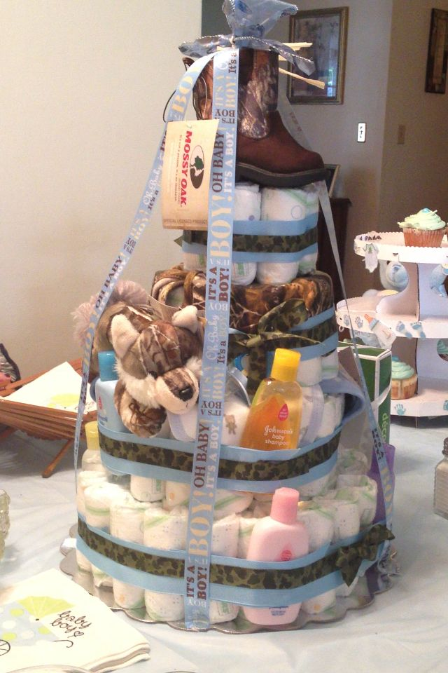 Homemade Camo diaper cake :)