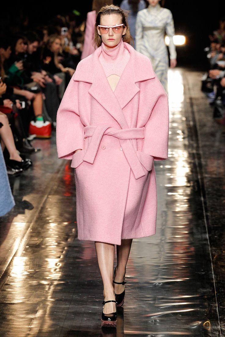 And so it begins. I knew this season was in trouble when even my beloved, reliably cute Carven sent out bathrobe wool coats. These are dark days. Carven Fall 2013 RTW - Runway Photos - Fashion Week