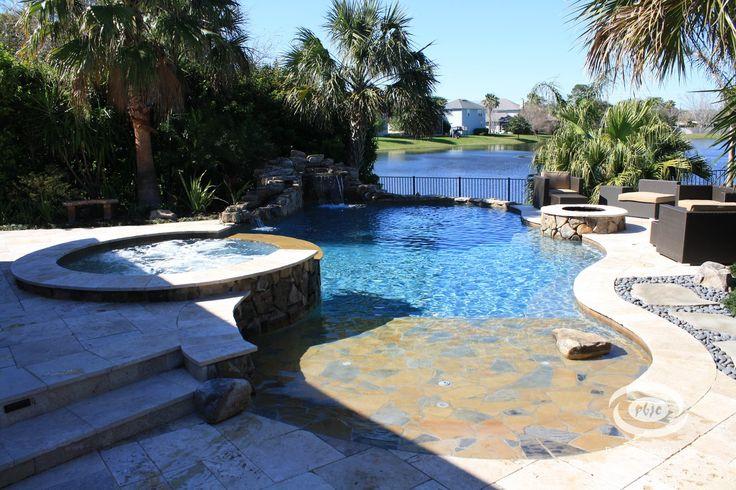 11 best images about free form pools on pinterest for Pool design jacksonville fl