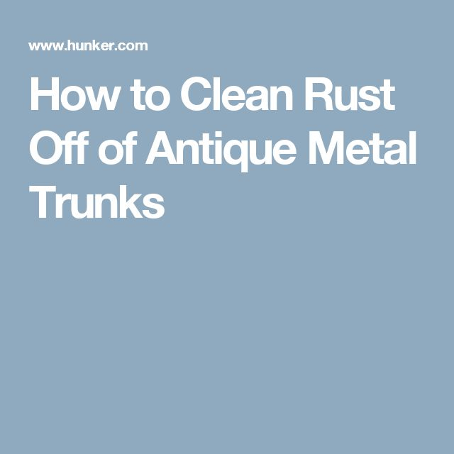 how to clean rust stains on metal