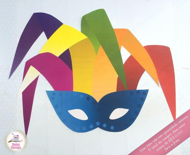 """.:Enfeite de parede sem furo 40cm proporcionais (tamanho folha A3).  .:Impressão à laser em papel couchê 230gr.  .:Pode ser feito em cores e temas diversos.    *Visite nosso álbum """"Tema Carnaval"""" e veja nossos outros produtos."""