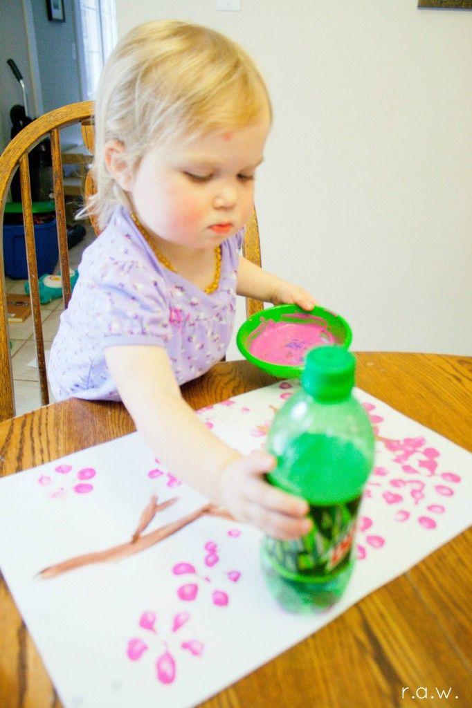 Cherry Blossom Bottle Art