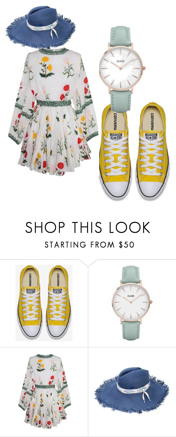 """""""Dreamin of summer...."""" by rosamackenzie on Polyvore featuring CLUSE and Maison Michel"""