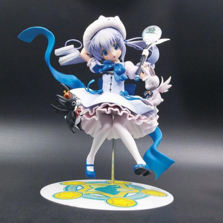 21cm kafuu chino rabbit house japanese anime figures pvc