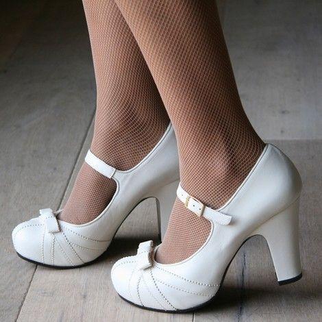 Scarpe Tacco Bianche