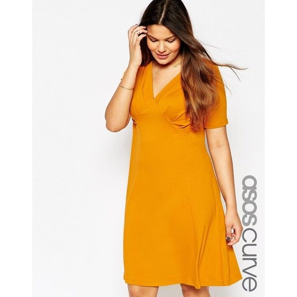 Yellow and black dress asos curve