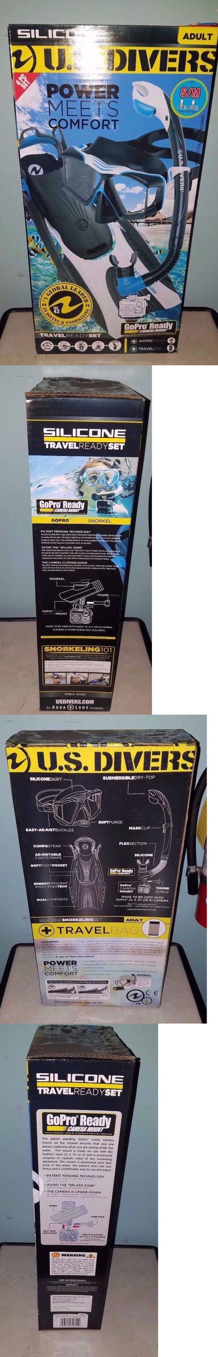 Snorkels and Sets 71162: U.S. Divers Gopro Ready 4Pc Snorkel Set, Adult Small, Blue, Green, Nib -> BUY IT NOW ONLY: $30 on eBay!