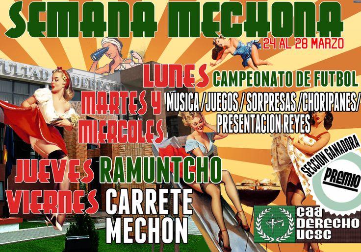https://www.facebook.com/events/1391038114505024  LUNES < CAMPEONATO MECHON > DESDE LAS 10.30HRS CANCHA SAN ANDRÉS MARTES Y MIERCOLES < JUEGOS, MUSICA, PRESENTACION REYES, CHORIPANES, SORPRESAS. JUEVES >>PASEO A RAMUNTCHO<< VIERNES >> CARRETE MECHON (LUGAR Y HORA POR CONFIRMAR)