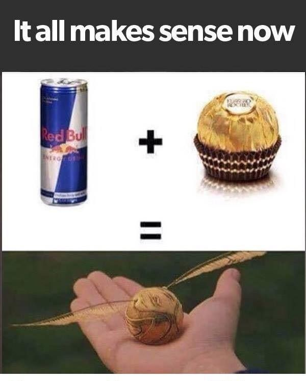After all, Red Bull gives you wiiings! (Try Not To Laugh Harry Potter)