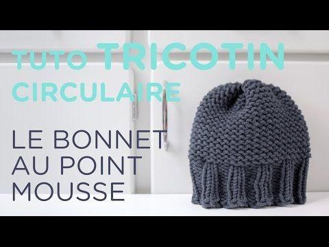 Tuto tricotin : le bonnet point mousse et bord côtes - YouTube