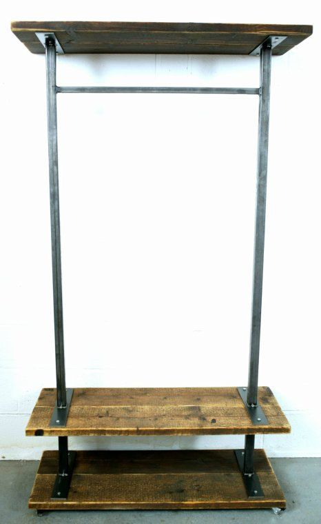 Reclaimed Industrial Chic Steel Clothes Hanging Rail. Shop Bar cafe Resturant…