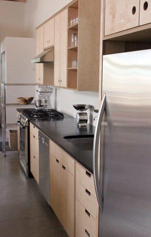 Кухни из фанеры. Plywood kitchen.