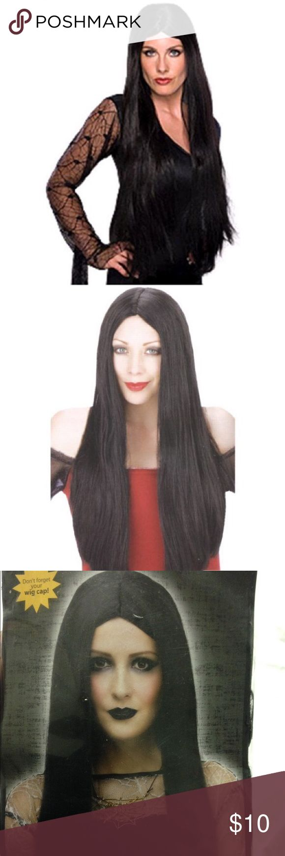 💀 adult witch wig 🔙 Adult black witch wig 24 inches Fabric: 100% polyester Hair: 100% olefin Punk Rock Accesories Accessories Hair Accessories