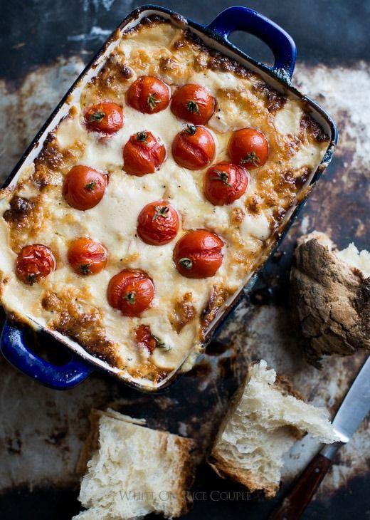 Roasted Tomato and Sweet Onion Cheese Dip @whiteonricecouple
