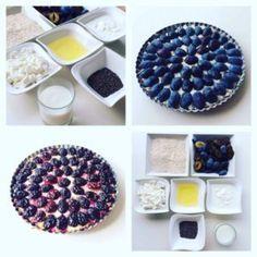 švestkový_koláč z ovesných vloček, tvarohu a jogurtu