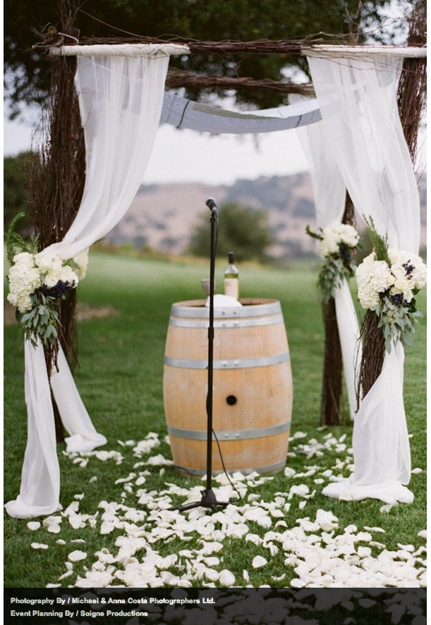 wedding decoration fabric rustic chuppah decor arch trees 9035