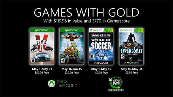 Xbox Games With Gold May 2020 Includes V Rally 4 And Overlord 2 In 2020 Xbox Games Xbox Live Xbox