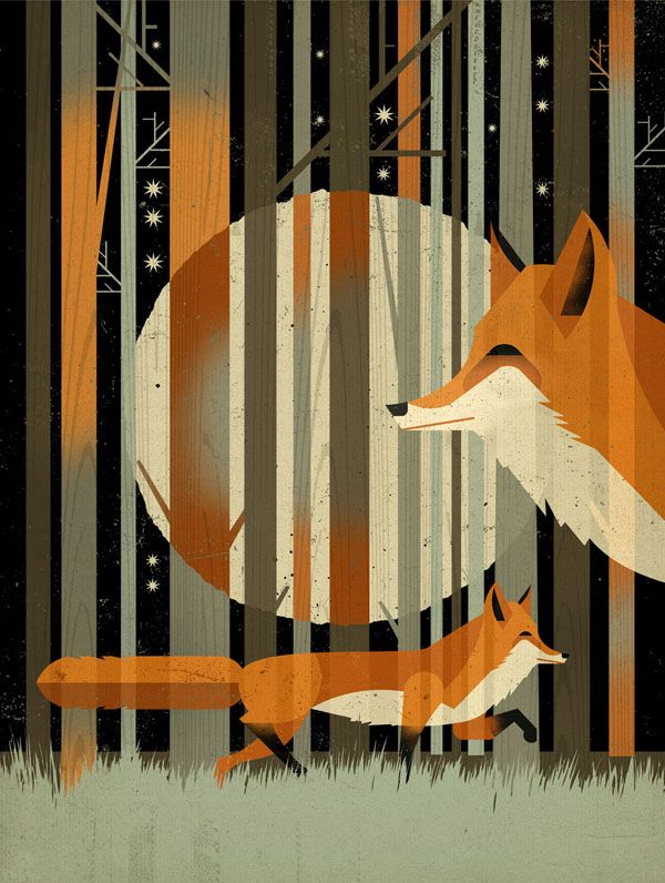 """Fox"" by Dieter Braun. Love the use of silhouette here."