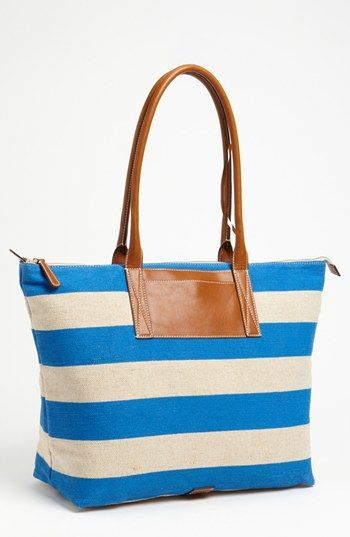 Nordstrom Stripe Tote available at #Nordstrom I want to be Melissa Taller when I grow up!