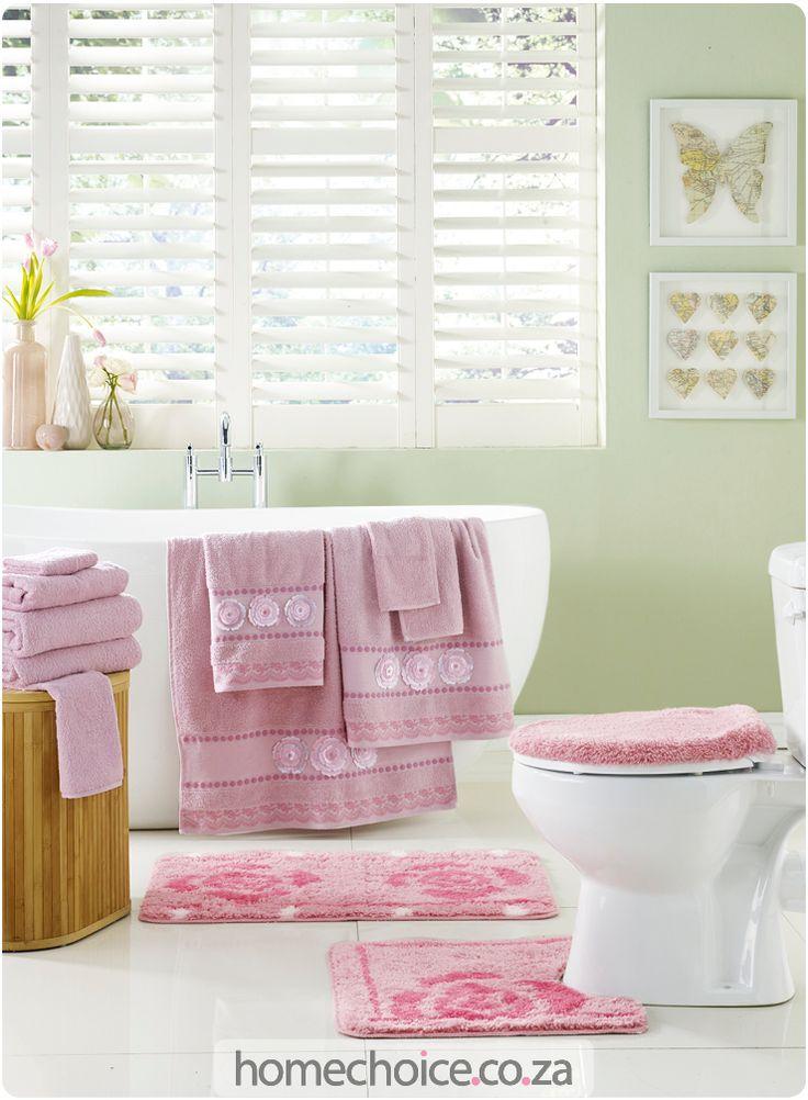 Rose bathroom set http://www.homechoice.co.za/sale/towels/Rose-Bathroom.aspx