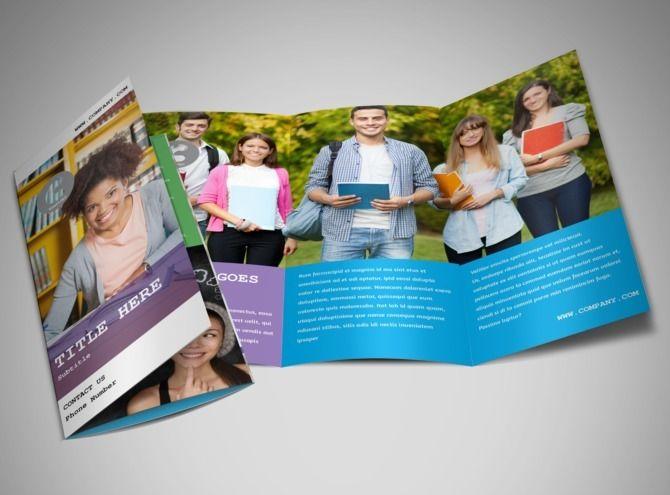 24 best 3 fold brochure images on Pinterest Brochures, Galleries - sample college brochure