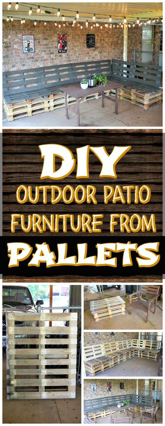 DIY Pallet Patio Sitting Furniture Set - 150 Best DIY Pallet Projects and Pallet Furniture Crafts - DIY & Crafts