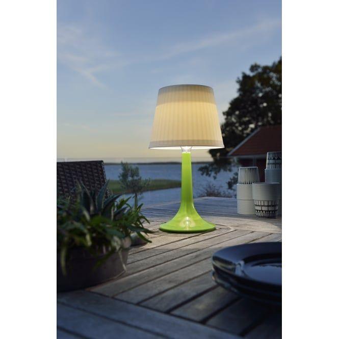 Stunning KONSTSMIDE Assisi Green Solar Table Light LED Brand Konstsmide Light Bulb supplied Finish