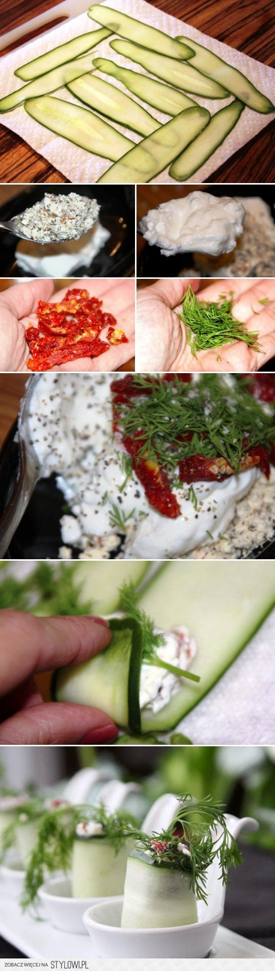 Cucumber Rolls Food Pix | Recipe by Picture na Stylowi.pl