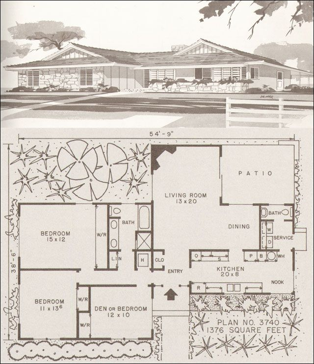 1000 images about floor plans and elevations on pinterest for 1960 ranch house plans