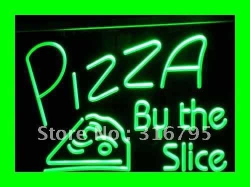 i306 OPEN Pizza By The Slice Cafe Shop NEW Light Sign On/Off Switch 20+ Colors 5 Sizes