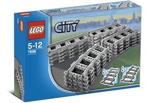 LEGO City Train 7896 Straight/Curved Tracks/Rails Power Functions No Box - NEW | eBay