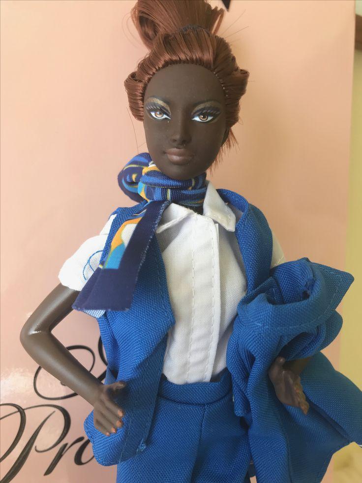 Barbie flight attendant KLM