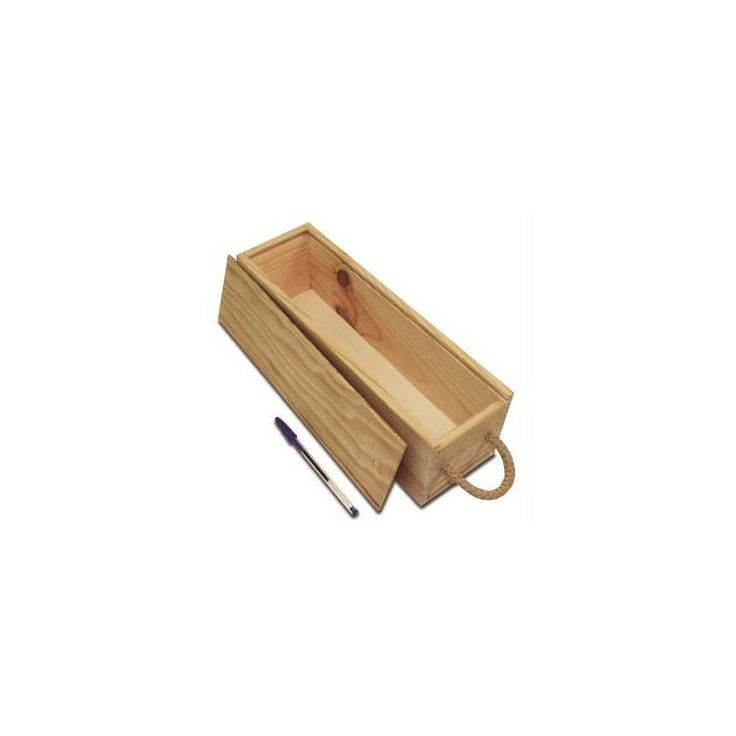 Comprar Caja de madera solidaria para 1 botella de vino 3€