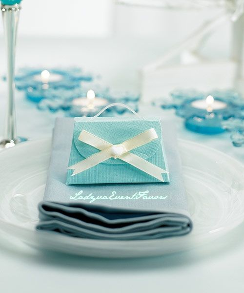 Tiffany blue handbag favor box