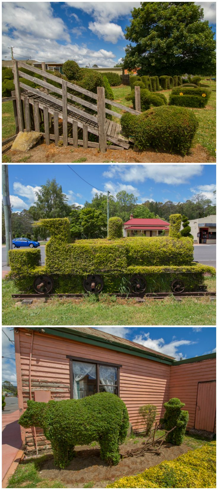 Sheffield's neighbour: Railton, the Town of Topiary. Photos by Benita Bell, article for www.think-tasmania.com