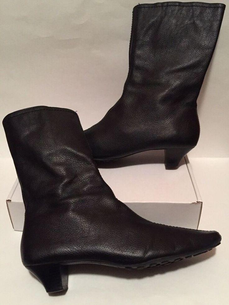 EDDIE BAUER <b>Women's ANKLE BOOTS</b> Black 8M PEBBLE ...