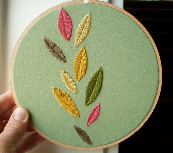 more embroidered hoop art