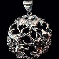 * Solid Sterling Silver 92.5% (Stamped) * Excellent Finishing * Free Shipping * Guaranteed for Life * Weight: 7.5 grams * Dimensions of Pendant: 32mm W x 32mm H  Product Code: CP-006S  Sold without a chain.  Like all of our products this pendant is guaranteed for life.