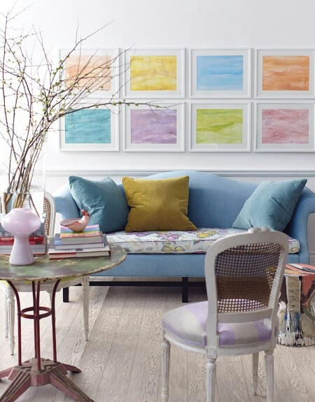 Modern Pastel Play. Pastel InteriorLiving Room ...